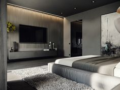 ROOM 23 on Behance Master Bedroom Interior, Home Room Design, Master Bedroom Design, Home Bedroom, Home Interior Design, Living Room Partition Design, Bedroom Cupboard Designs, Home Building Design, Home Decor Quotes