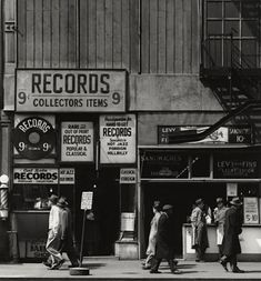 Old record shop photograph