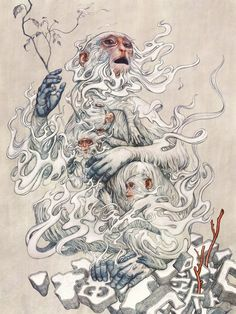 Monkeys by james jean