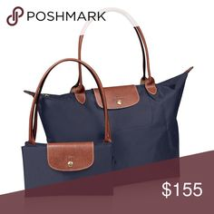Authentic Longchamp Large Le Pliage Brand new, never used! Authentic Longchamp Large Le Pliage in color New Navy. Purchased from Nordstrom. Price shown includes tax paid $145 + $10. Posh takes a cut. Please be mindful. Thanks! Longchamp Bags Totes