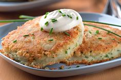 Adding a little buttermilk to these savory potato cakes makes 'em extra yum. Serve with a dollop of sour cream, if you like. (We like!)