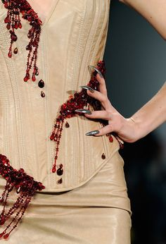lelaid: The Blonds, Fall/Winter 2013 Must get back to work on the beaded blood spatter frock coat, yessss.