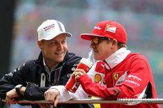 My favorite F1 drivers--Valtteri Bottas and Kimi Räikkönen - 2014 Chinese GP drivers' parade