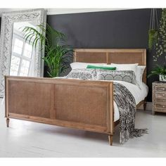 Raffety Wicker Weathered Bed | Rattan Bed