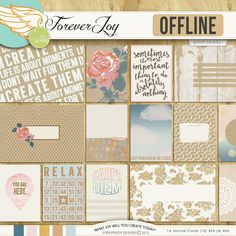 Offline Journal Cards by Forever Joy at The Lilypad