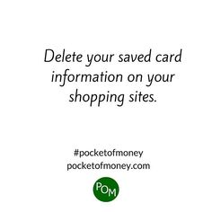 It's so convenient. They saved your card information so you don't have to retype it every time you shop. They're looking out for you ... and making more money. You're likely to spend more and more often when it's so easy. When you have to take the time to put in all your information you time to think if you really need it. #pocketofmoney #wealthtip #wealthbuilder #financialliteracy #moneysaver #savemoney