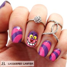 Lacquered Lawyer | Nail Art Blog: Cheshire Cat