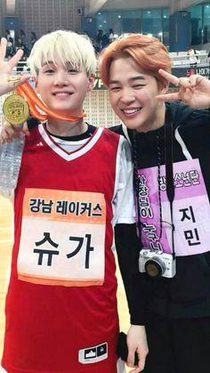 A felicidade do Jimin por seu hyung