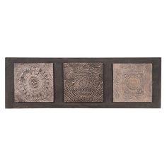 Bild NEWALA aus Polyesterharz, 33 x 100cm, braun