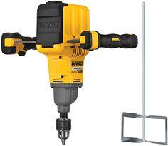 Dewalt's new FlexVolt dual-handle paddle mixer will make mixing thinset, mortar, and concrete a breeze. Cool Tools, Diy Tools, Dewalt Power Tools, Mobile Workshop, Dewalt Drill, Construction Contractors, Workshop Design, Electrical Tools, Professional Tools