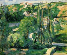 360 La Cote du Galet, at Pontoise Oil Painting by Paul Cezanne.jpg (360×297)