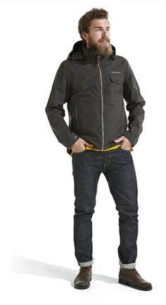 Herrejakke Didriksons Emil er en funksjonell, vanntett og vindtett jakke med god passform