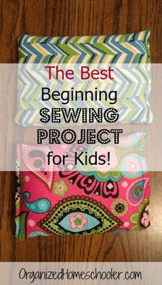 Making cold/hot packs is a great beginning sewing project. It is a perfect way to introduce kids to sewing. They only need to sew three straight lines