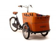 Welly is going to be riding in style!! Babboe Curve tricycle