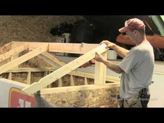 ▶ How To Build A Shed - Part 3 Building & Installing Rafters - YouTube