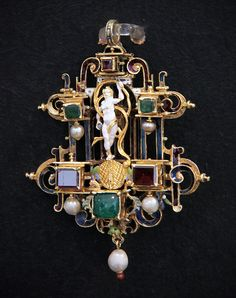 Pendant with the figure of Fortune, Transylvania, 1550-1600
