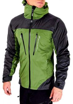 Waterproof jacket with stretch, hood and 5 pockets - Silence Pro Shell - RevolutionRace Outdoor Outfit, Outdoor Gear, Unisex Clothes, Layers Design, Motorcycle Jacket, Sportswear, Windbreaker, Casual Outfits, Survival Tools