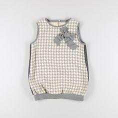 Blusa de pata de gallo sin mangas con lacito de color Gris de marca Karpi