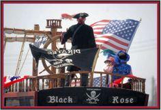 Flag Day Parade Ocean Shores, WA USA.  My favorite shot of the crazy Ocean Shores pirates.