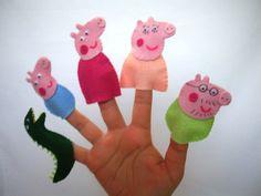 Dedoche Fantoche Peppa Pig e Família