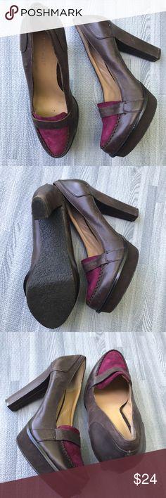 Nine West loafer heels, sz. 8.5 Nine West loafer platform heels, sz. 8.5. Worn once. Nine West Shoes Platforms