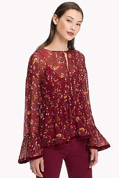 Witspace Fashion Womens Ladies Floral Ruffles Cardigan Long Blouse Loose Tops Outwear