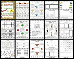 Joy of Kindergarten: September Kindergarten Homework Pack