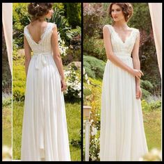 Modest Chiffon Boho Wedding Dresses Plus Size Modern With Cap Sleeves Cheap Wedding Gowns Simple V Neck Pleated Bridal Gown With Sash Aline Dress Big Wedding Dresses From Bridallee, $77.79| Dhgate.Com