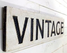 VINTAGE Sign  Carved in a Cypress Board Rustic by AmericanaSigns
