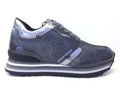 APEPAZZA scarpe donna sneaker RIHANNA RDS01 METALFABRIC GRIGIO 6fd94fc8f2e