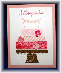 Stampin and Scrappin With Ri Ri: MARIA'S CARD SHARE - SU! BUILD A BIRTHDAY! AND CHE...