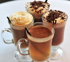 Hot Chocolate Drinks...sitting by a fire with one of these is on the menu!