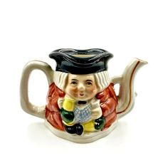 Toby Jug Tea Pot Style ornament miniature Pottery Collectable Collectors 1950's The Collector, My Ebay, Tea Pots, Miniatures, Pottery, Ornaments, Tableware, Shop, Style