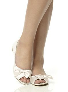 Satin Peep Toe Bridal Ballet Wedding Flats http://www.dessy.com/accessories/satin-peep-toe-bridal-ballet-flats/