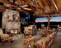 Rustic Outdoor Patio fantastic idea for a shack