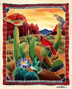 Singing in the Desert, Fine Art America - Inspiration for watercolor over glue resist.