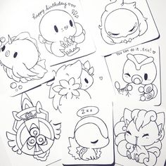 pokemon commissions are all lined! FYI: Canada Post is striking and no mail is being delivered??? I will continue to work on orders and send them out asap!! thank you for your patience