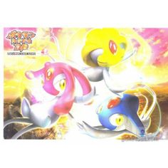 Pokemon Center 2008 Diamond & Pearl Azelf Mesprit Uxie Authentic Postcard