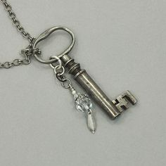 Skeleton Key Pendant Necklace,