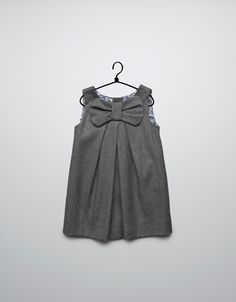dress with bow and bib front - Dresses - Baby girl (3-36 months) - Kids - ZARA this would be so cute w leggings for christmas pictures