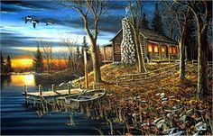 """Jim Hansel Hand Signed and Numbered Limited Edition Canvas: """"Complete Serenity"""" - Jim Hansel Canvas Giclee Editions"""