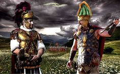 A high ranking Roman Officer trying to negotiate with the Dacian King before the battle of Tapae, 101 CE (a decisive victory for Rome under Emperor Trajan). Ancient Rome, Ancient Art, Ancient History, World History, Art History, Fall Of Constantinople, Roman Warriors, Roman Era, Medieval World