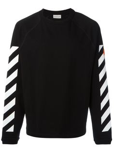 MONCLER Moncler X Off White Printed Sweatshirt. #moncler #cloth #