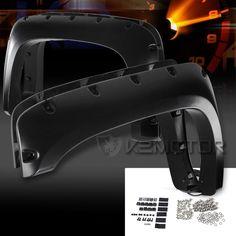 07-13 Chevy Silverado 1500 2500HD/3500HD Black Rivet Fender Flares Pocket Style…