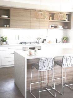 New Kitchen Island Small Modern Interior Design 54 Ideas Modern Kitchen Design, Interior Design Kitchen, Modern Interior Design, Modern Kitchen Island, Minimal Kitchen, Interior Colors, Modern Interiors, Kitchen Islands, Home Decor Kitchen
