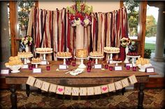 Backdrop Fabric Garland Customize to match your event by RIandPI, $99.00
