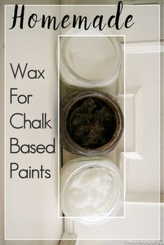 Homemade wax for chalk-based paints - Country Design Style- You will want to try this! How to make homemade wax for chalk based paints. I make a soft wax, harder rubbed wax, and a dark wax for furniture. Diy Chalk Paint Recipe, Make Chalk Paint, Homemade Chalk Paint, Chalk Paint Projects, Chalk Paint Furniture, Furniture Design, Homemade Art, Lego Furniture, Furniture Layout