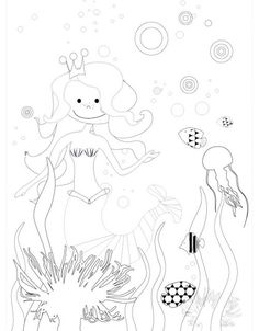 ausmalbilder meerjungfrau 06 | ausmalbilder | ausmalbilder