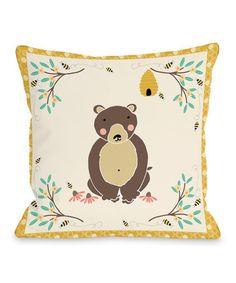 Gold Honey Bear Throw Pillow. Honey BearNursery ThemesBaby ...