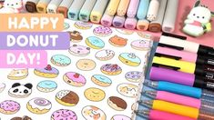 Today is one of my favorite holidays - National Donut Day! Haha ^-^ This doodle made me really hungry xD Hope you enjoy! Yoshi's Woolly World, Kawaii Phone Case, National Donut Day, More Cute, Copic Markers, Favorite Holiday, Doodle Art, Donuts, Coloring Books